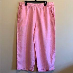 Jone&Co. Linen wide leg pants.